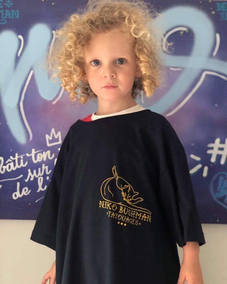 t-shirt niko bushman porté en S
